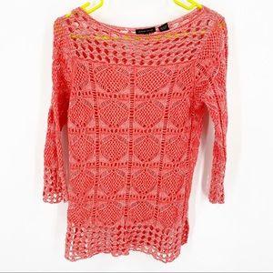 Jeanne Pierre 100% Cotton Lightweight Sweater S